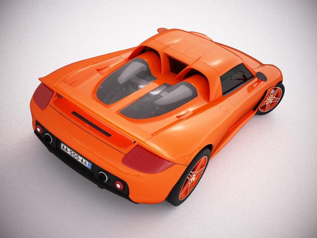 porsche carrera gt 3d model 3ds max bmp jpeg jpg texture obj other 121286