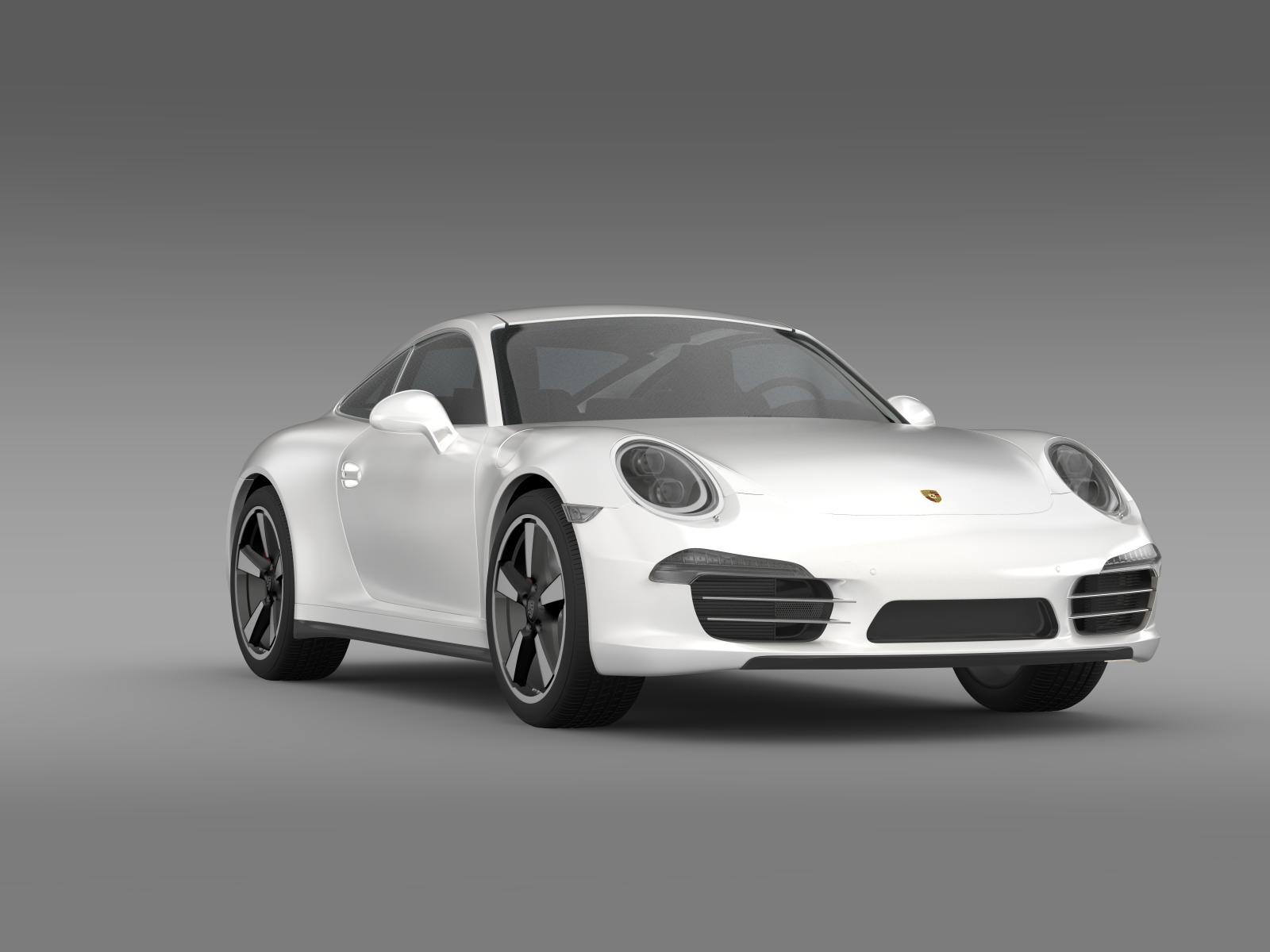 Porsche 911 50 Year Edition 2013 3d Model Buy Porsche