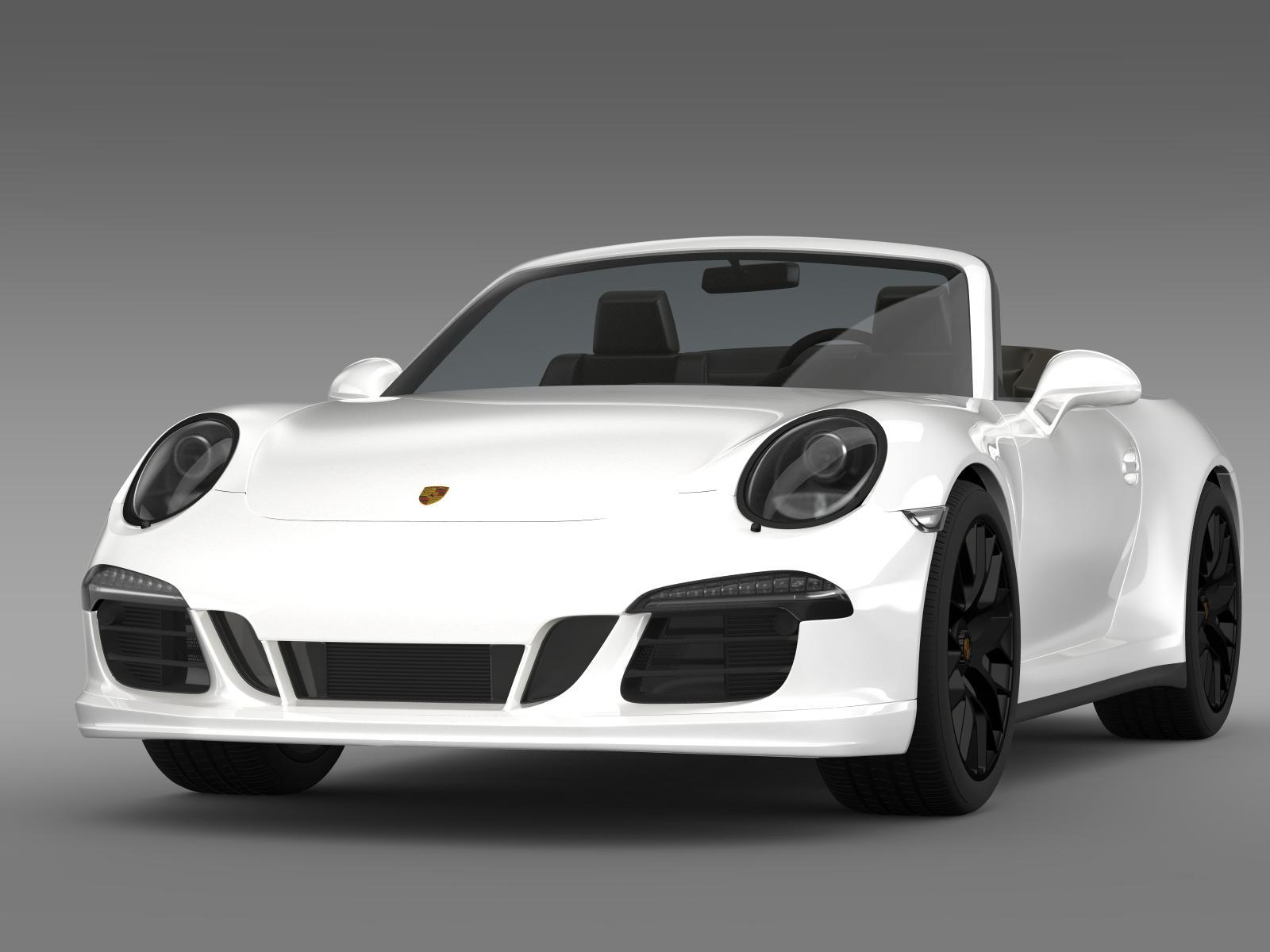 porsche 911 carrera 4 gts cabriolet 991 2015 3d model buy porsche 911 carrera 4 gts cabriolet. Black Bedroom Furniture Sets. Home Design Ideas