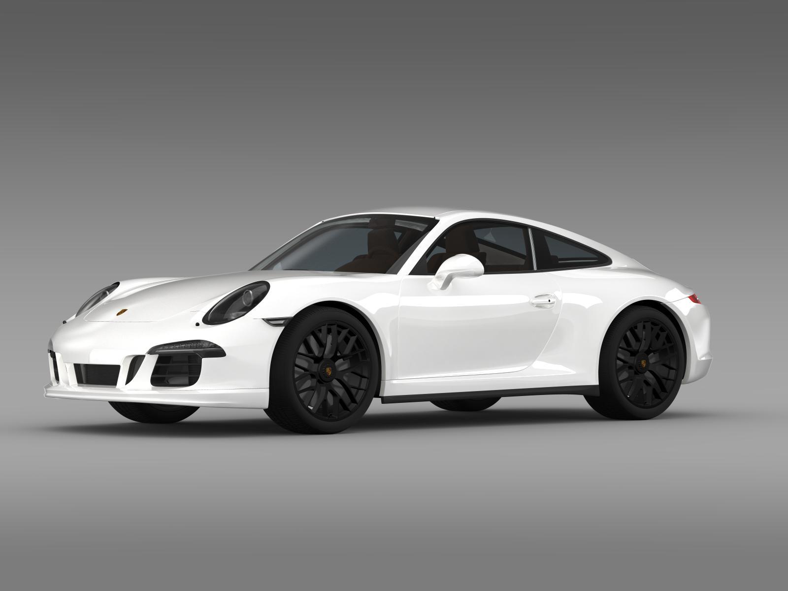 porsche 911 carrera 4 gts coupe 991 2015 3d model buy porsche 911 carrera 4 gts coupe 991 2015. Black Bedroom Furniture Sets. Home Design Ideas