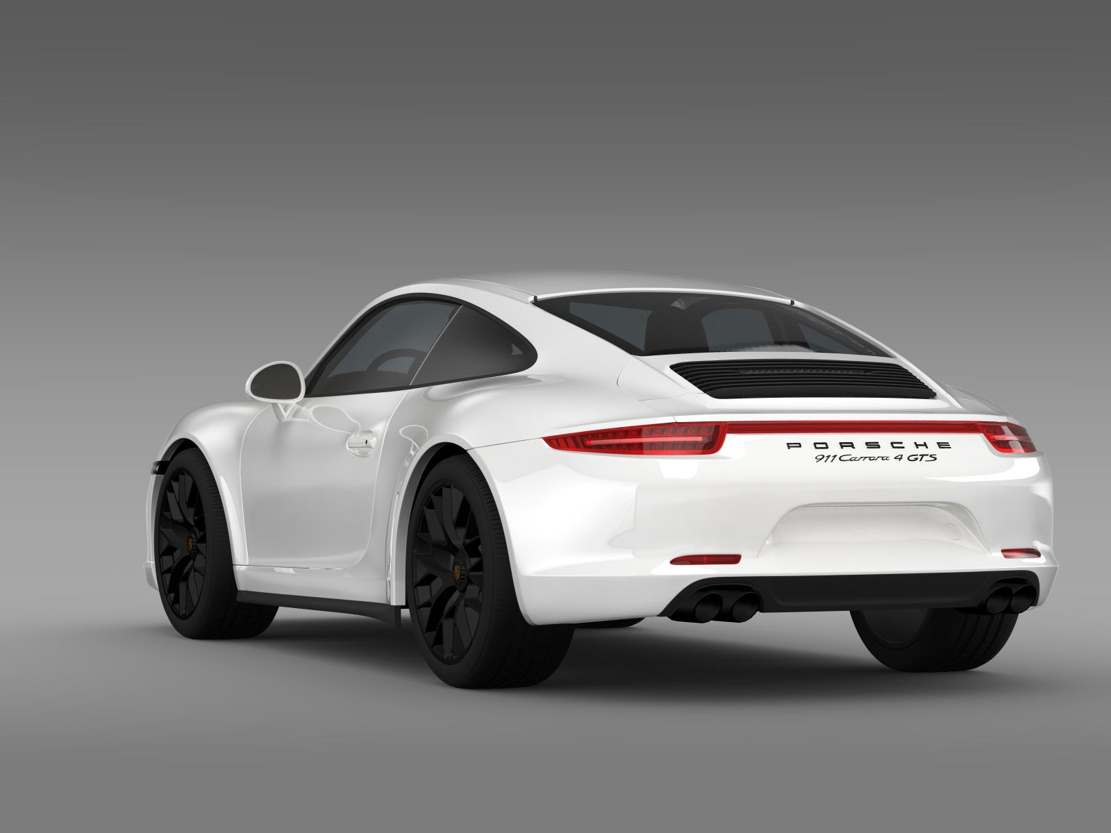 porsche 911 carrera 4 gts coupe 991 2015 3d model buy. Black Bedroom Furniture Sets. Home Design Ideas