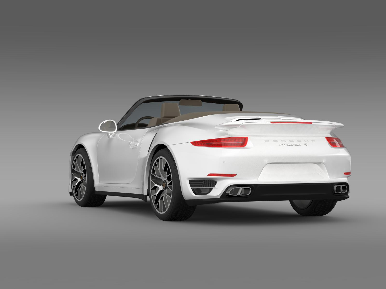porsche 911 turbo s cabrio 2014 3d model buy porsche 911. Black Bedroom Furniture Sets. Home Design Ideas