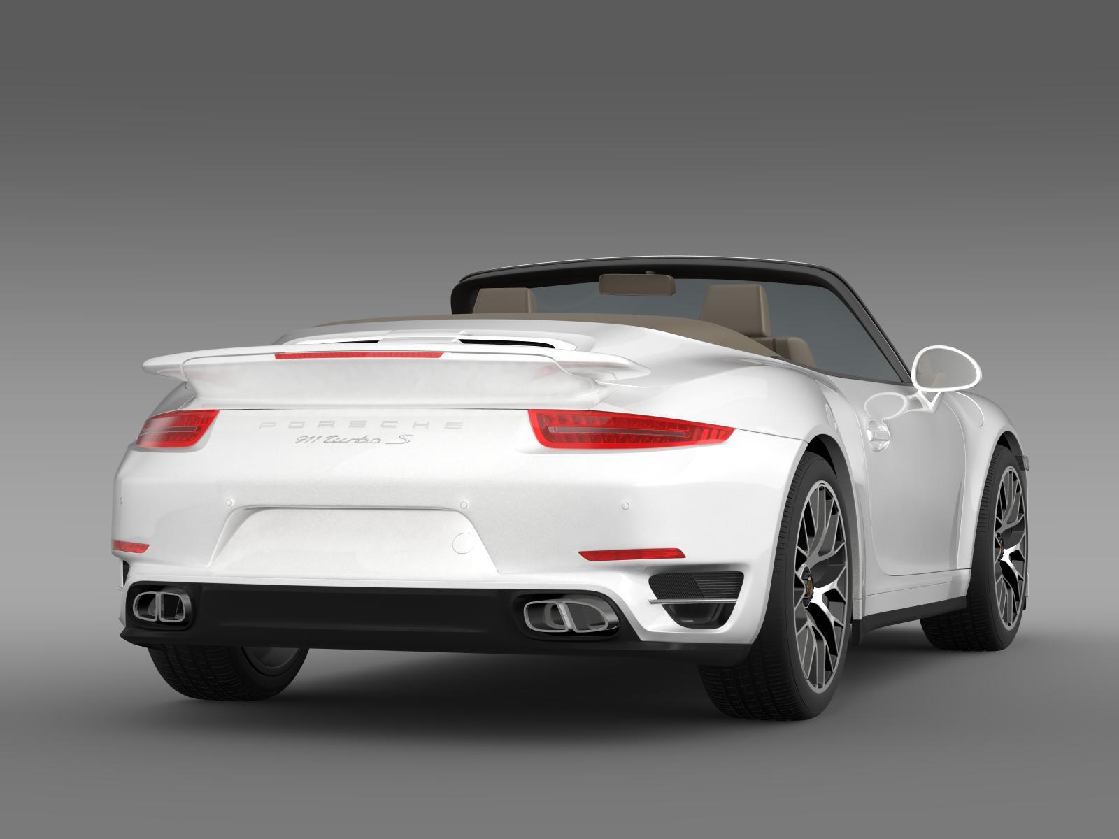 porsche 911 turbo s cabrio 2014 3d model buy porsche 911 turbo s cabrio 2014 3d model. Black Bedroom Furniture Sets. Home Design Ideas