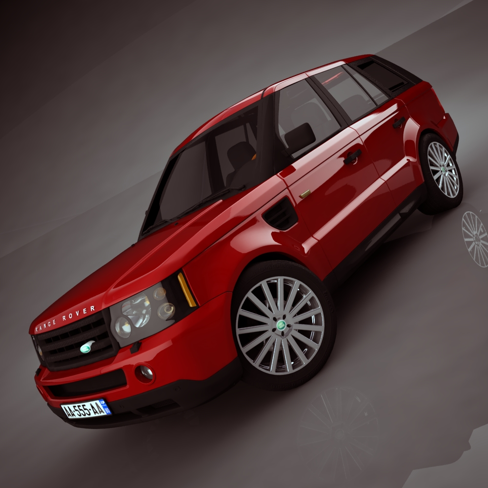 range rover 2006 3d model 3ds max dxf png texture obj 125915