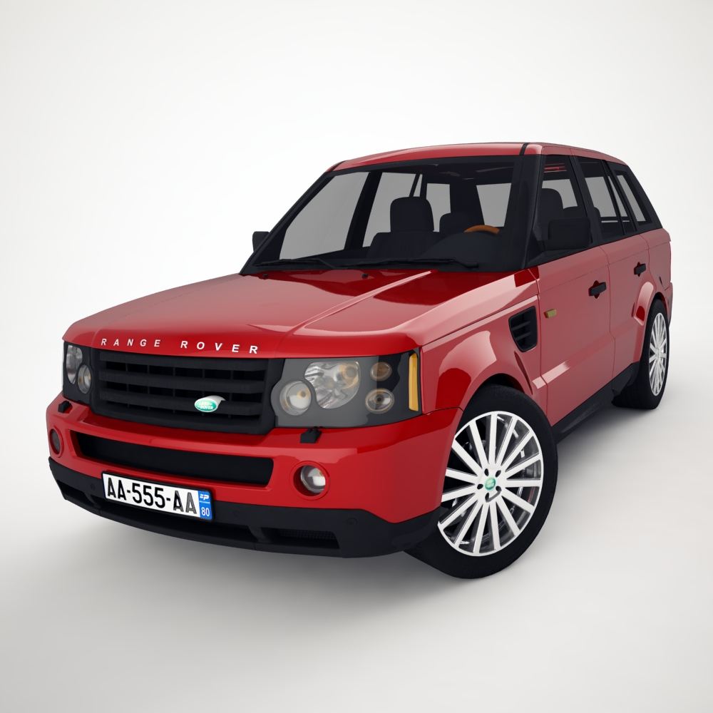 range rover 2006 3d model 3ds max dxf png texture obj 125917