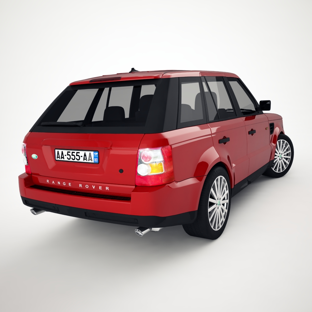range rover 2006 3d model 3ds max dxf png texture obj 125918