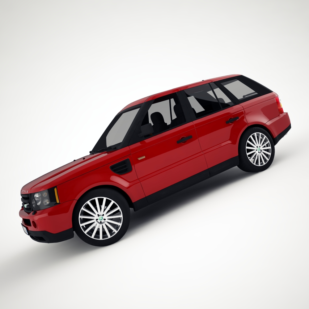 range rover 2006 3d model 3ds max dxf png texture obj 125919