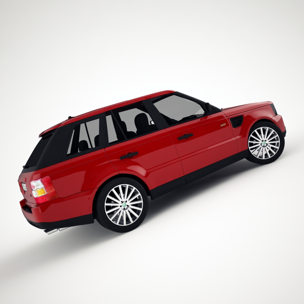 range rover 2006 3d model 3ds max dxf png texture obj 125920