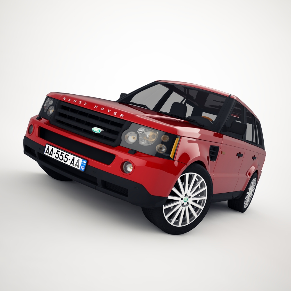 range rover 2006 3d model 3ds max dxf png texture obj 125921