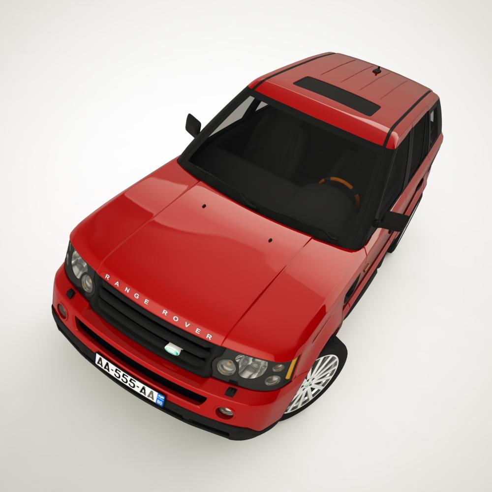 diapazons rover 2006 3d modelis 3ds max dxf png faktūras obj 125923
