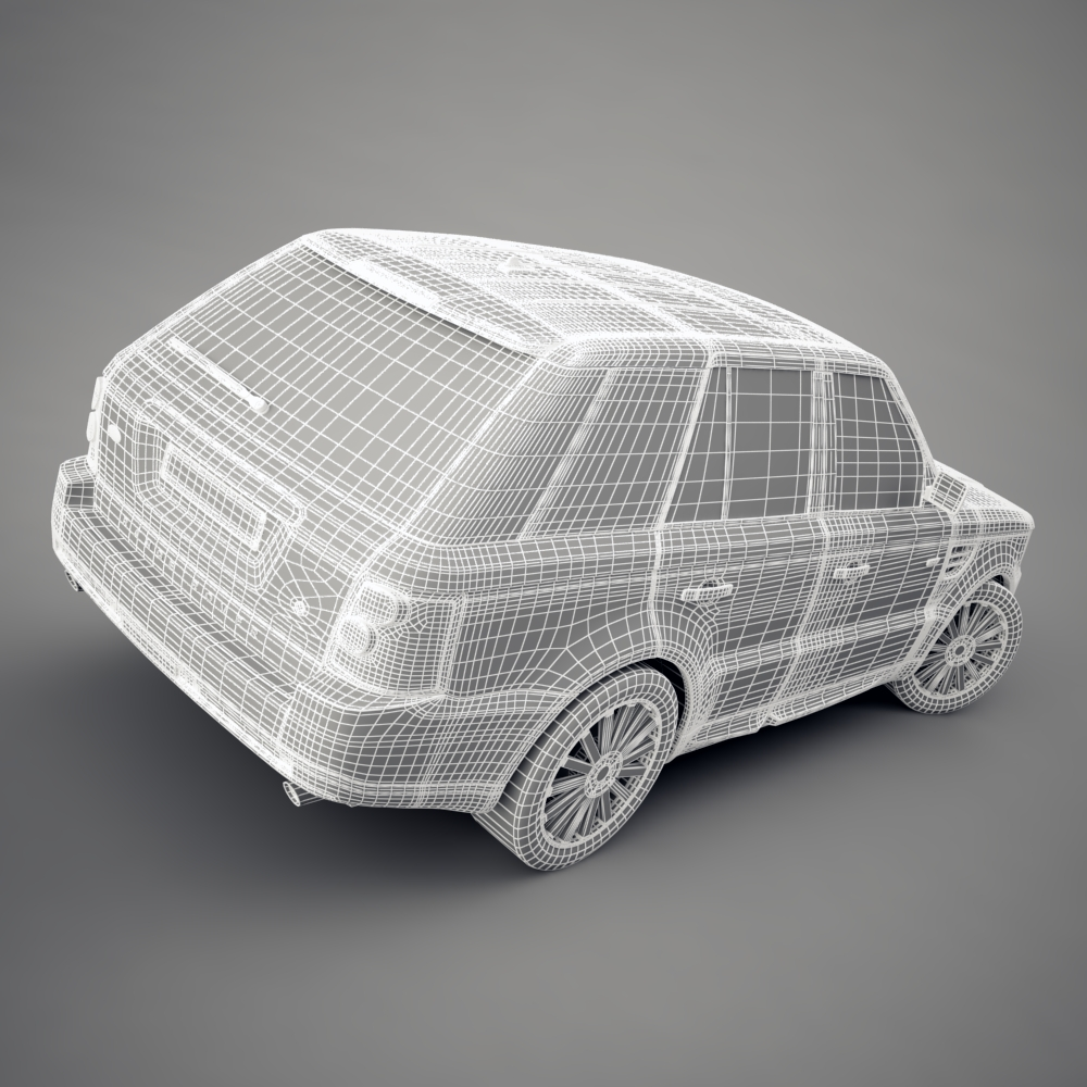 range rover 2006 3d model 3ds max dxf png texture obj 125928