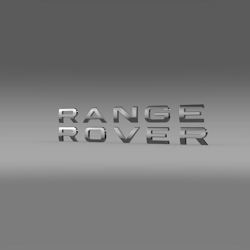 range rover lettering logo 3d model 3ds max fbx c4d lwo ma mb hrc xsi obj 163055