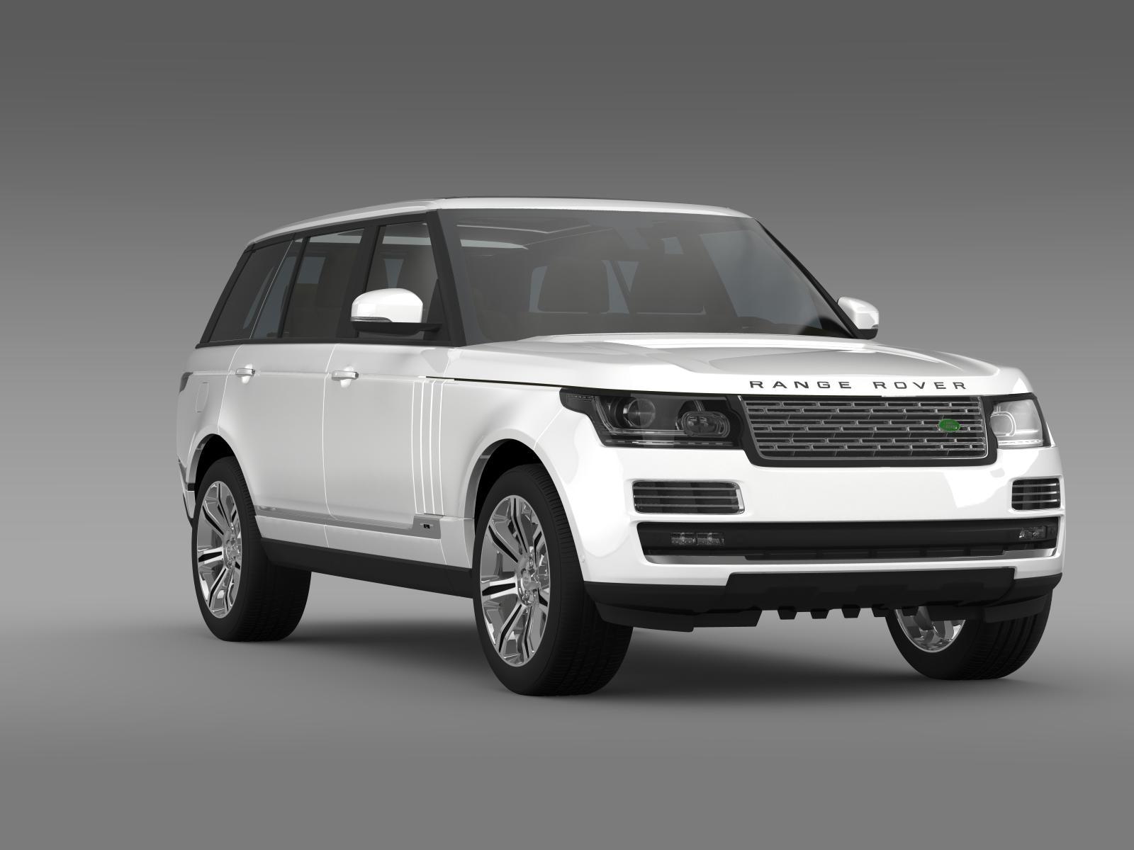 Range Rover Autobiography Black Lwb L405 3d Model Buy
