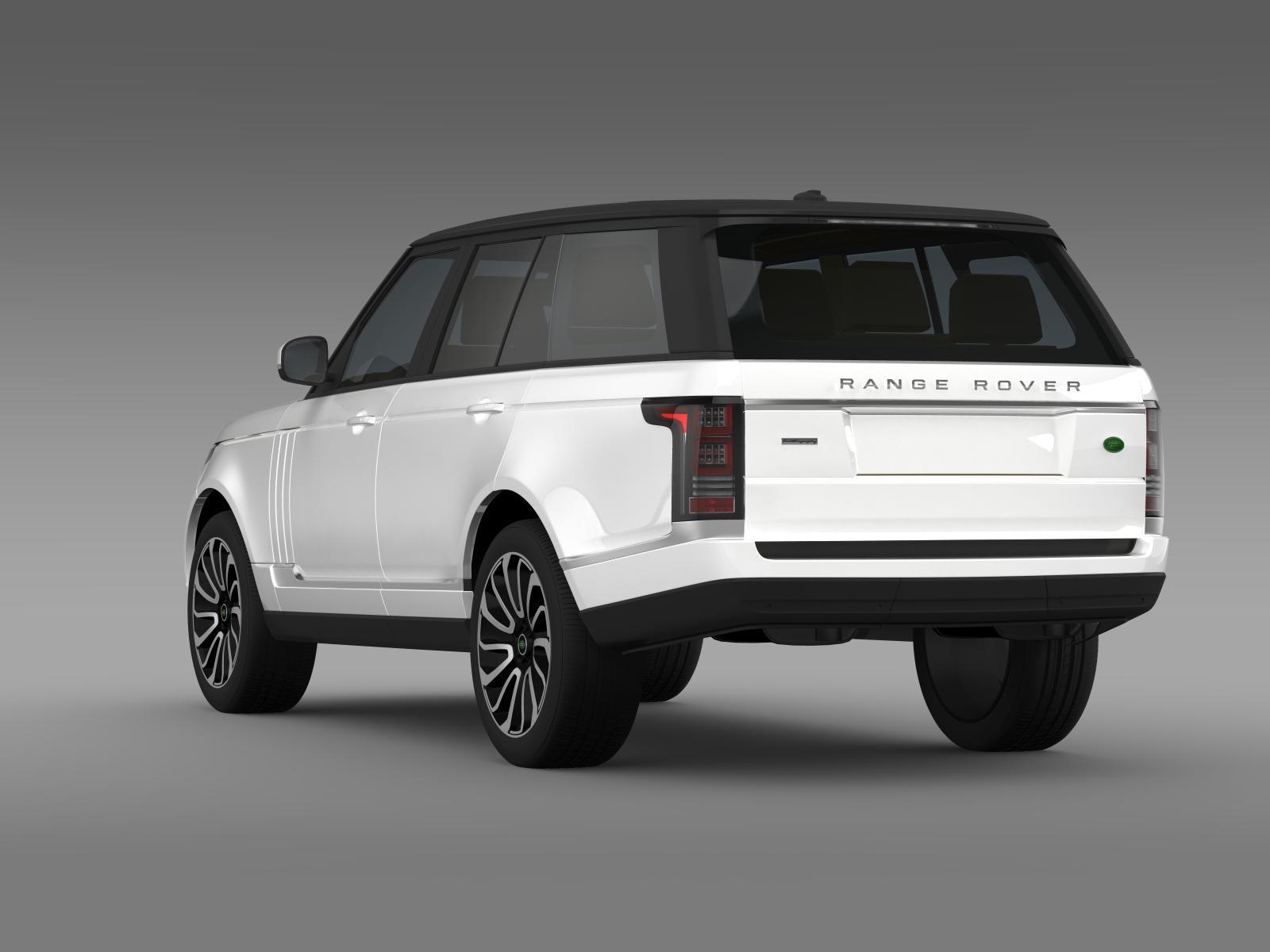 range rover autobiography v8 l405 3d model buy range. Black Bedroom Furniture Sets. Home Design Ideas