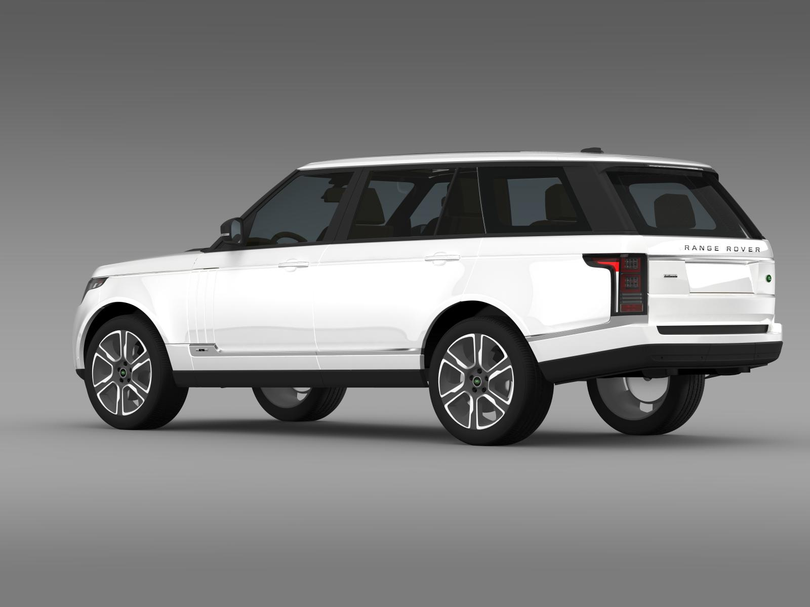 range rover hybrid lwb l405 3d model buy range rover hybrid lwb l405 3d model flatpyramid. Black Bedroom Furniture Sets. Home Design Ideas