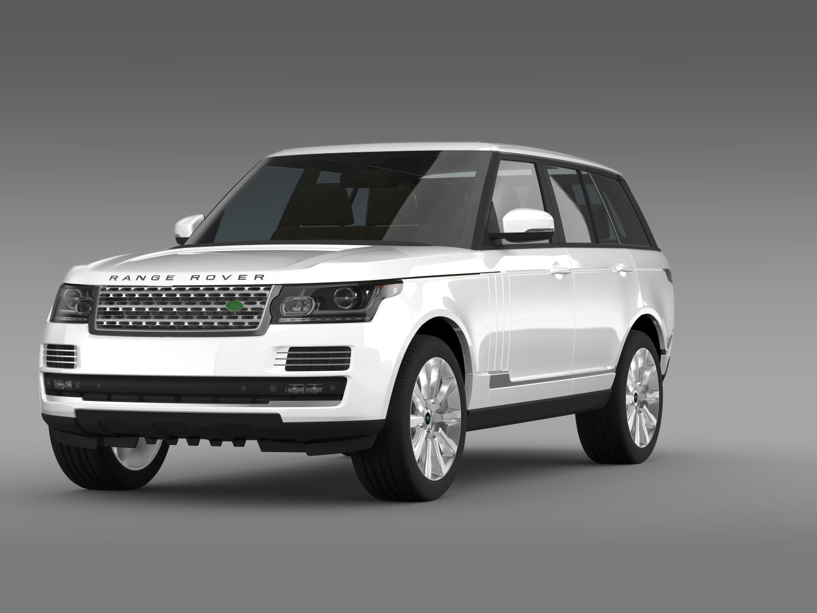 range rover supercharged l405 3d model buy range rover. Black Bedroom Furniture Sets. Home Design Ideas