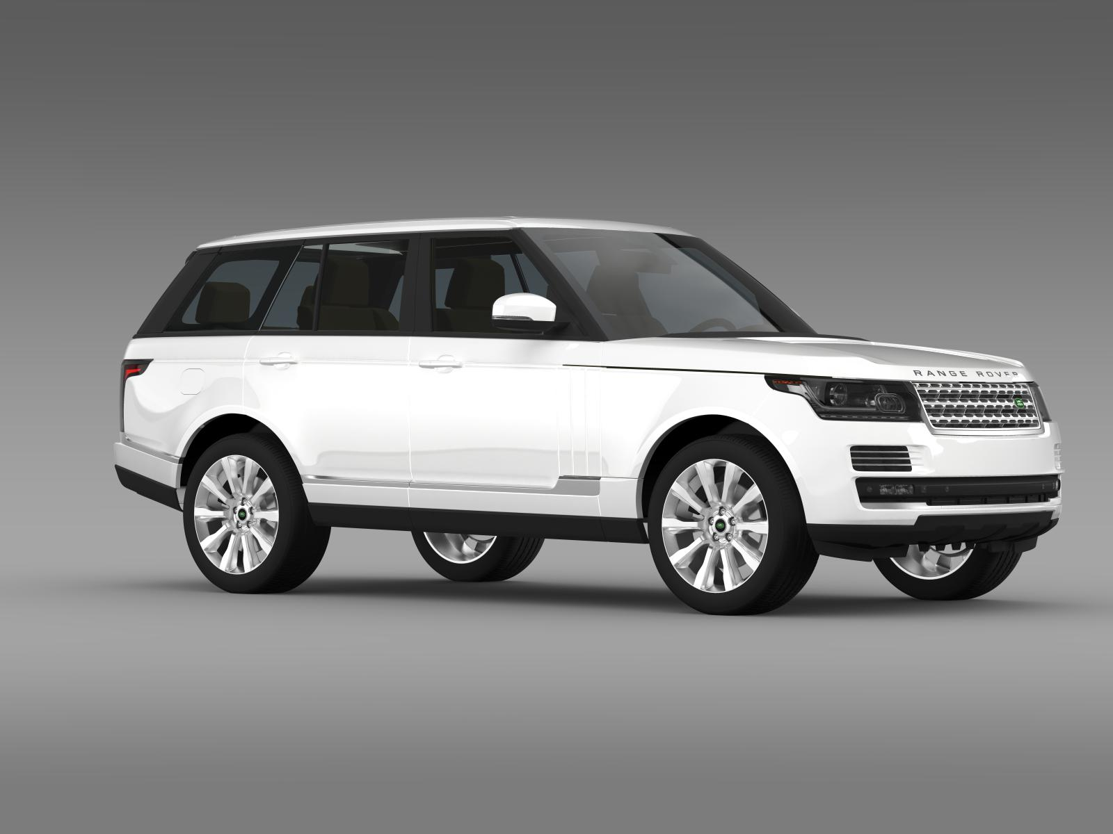 range rover supercharged l405 3d model flatpyramid. Black Bedroom Furniture Sets. Home Design Ideas