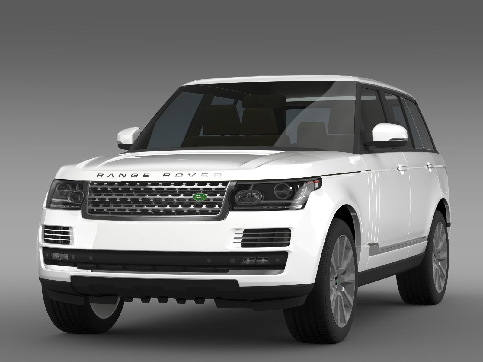 range rover vogue se sdv8 l405 3d model buy range rover. Black Bedroom Furniture Sets. Home Design Ideas