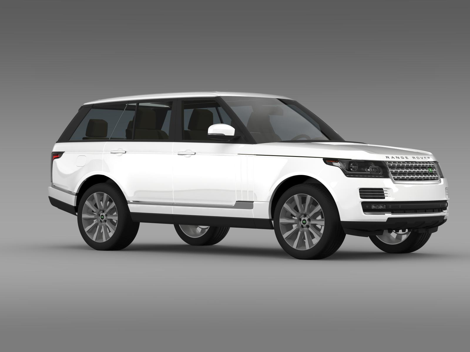 range rover vogue se sdv8 l405 3d model buy range rover. Black Bedroom Furniture Sets. Home Design Ideas