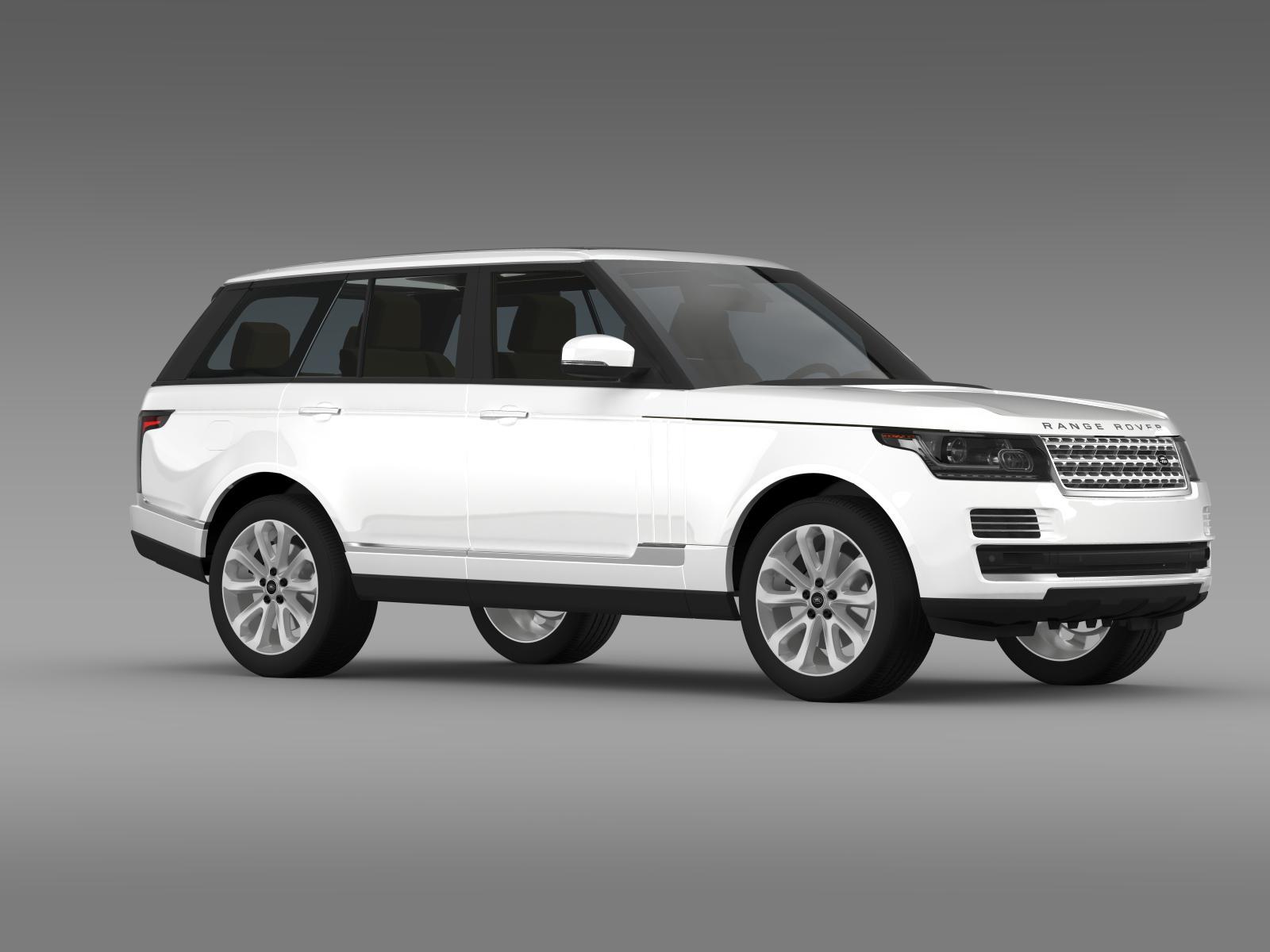 range rover vogue se tdv6 l405 3d model buy range rover. Black Bedroom Furniture Sets. Home Design Ideas