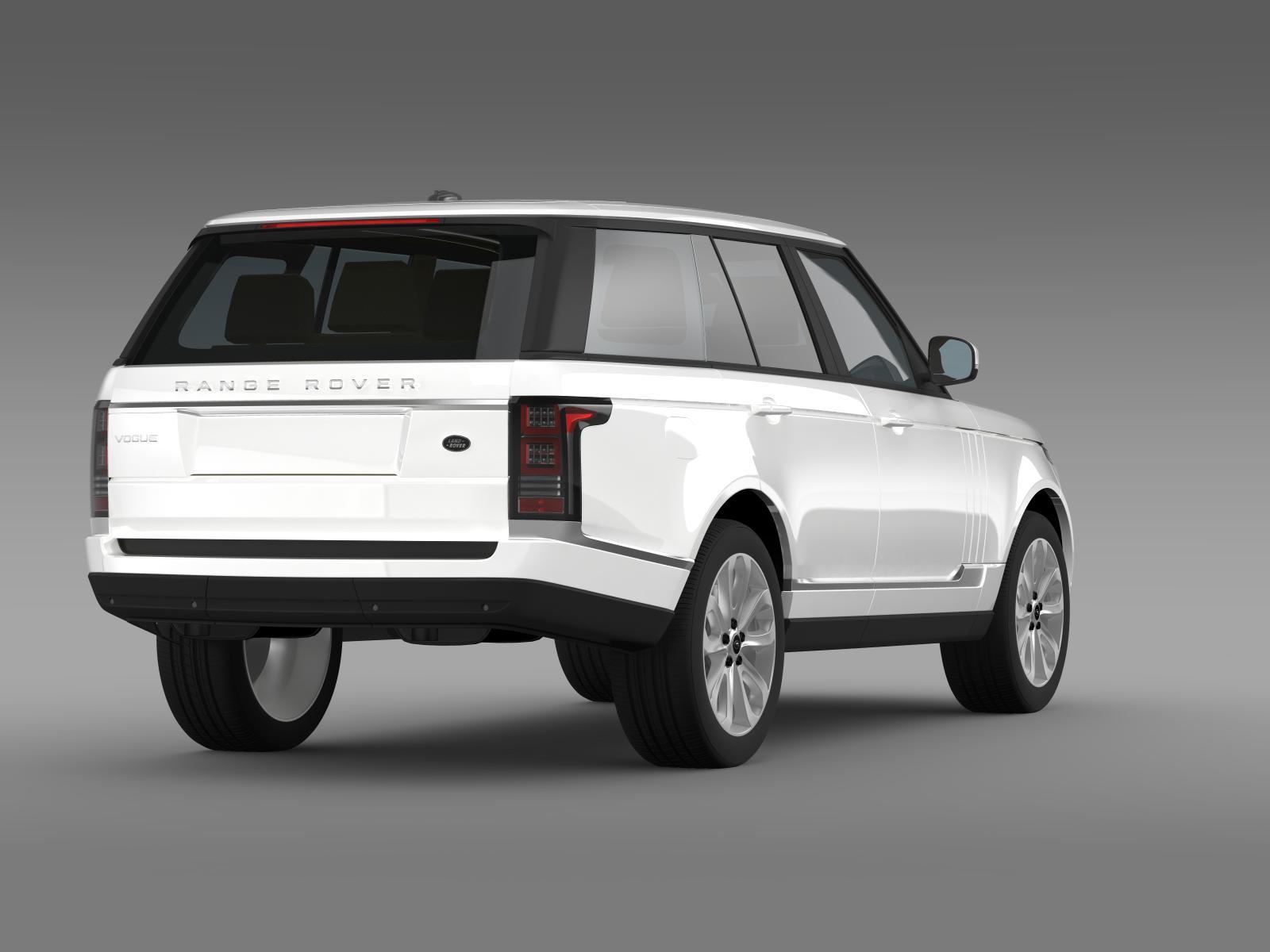 range rover vogue tdv6 l405 3d model buy range rover vogue tdv6 l405 3d model flatpyramid. Black Bedroom Furniture Sets. Home Design Ideas
