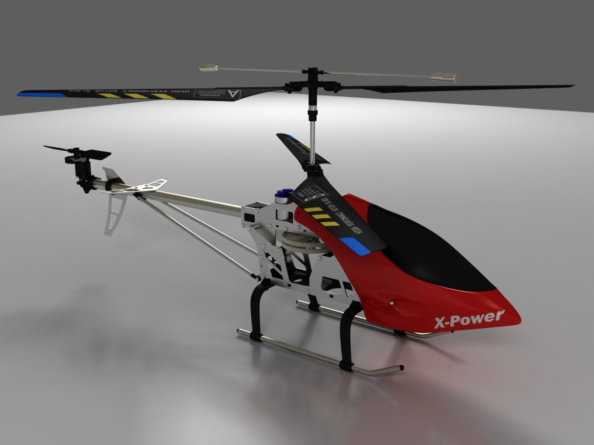 rc helicopter_pioneer mx 3d model 3ds max fbx obj 155026