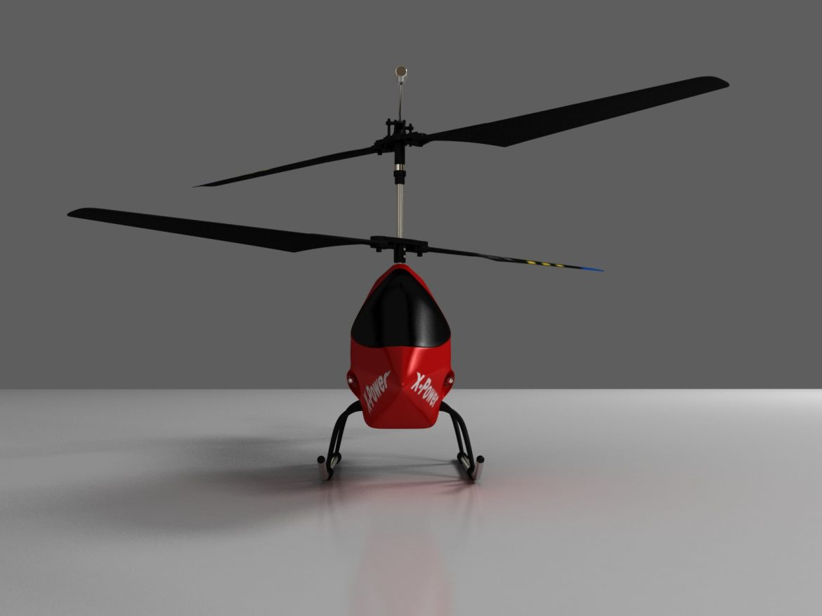 rc helicopter_pioneer mx 3d model 3ds max fbx obj 155027