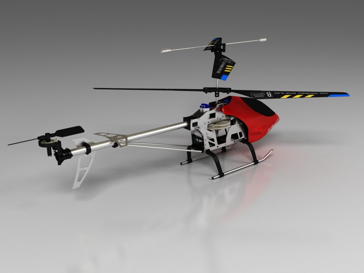 rc helicopter_pioneer mx 3d model 3ds max fbx obj 155028