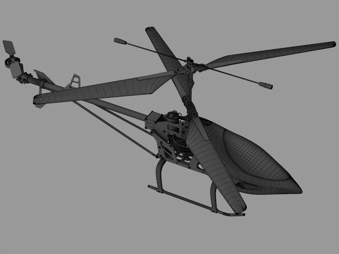 rc helicopter_pioneer mx 3d model 3ds max fbx obj 155032