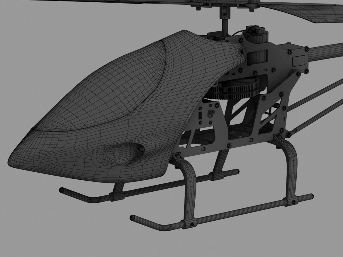 rc helicopter_pioneer mx 3d model 3ds max fbx obj 155033