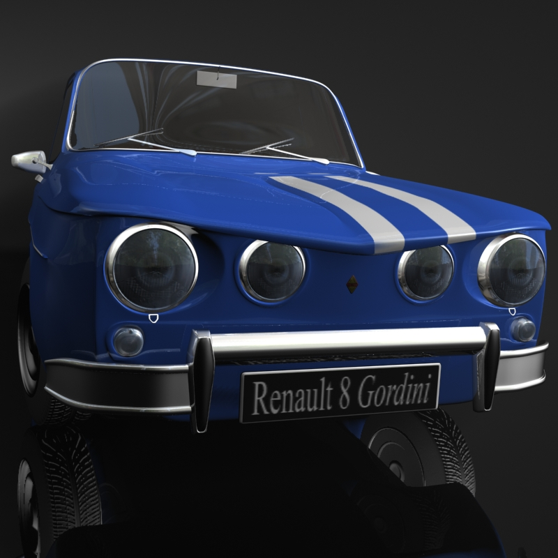 renault 8 gordini 3d model 3ds max fbx obj 118966
