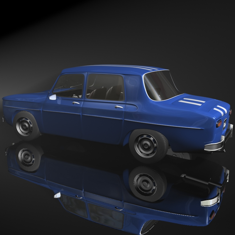 renault 8 gordini 3d model 3ds max fbx obj 118967