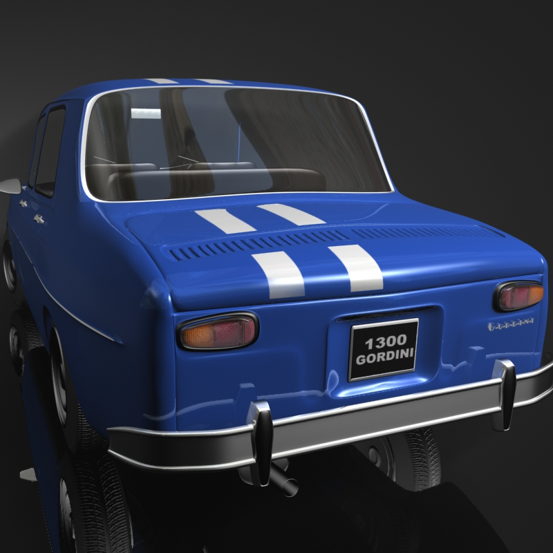 renault 8 gordini 3d model 3ds max fbx obj 118968