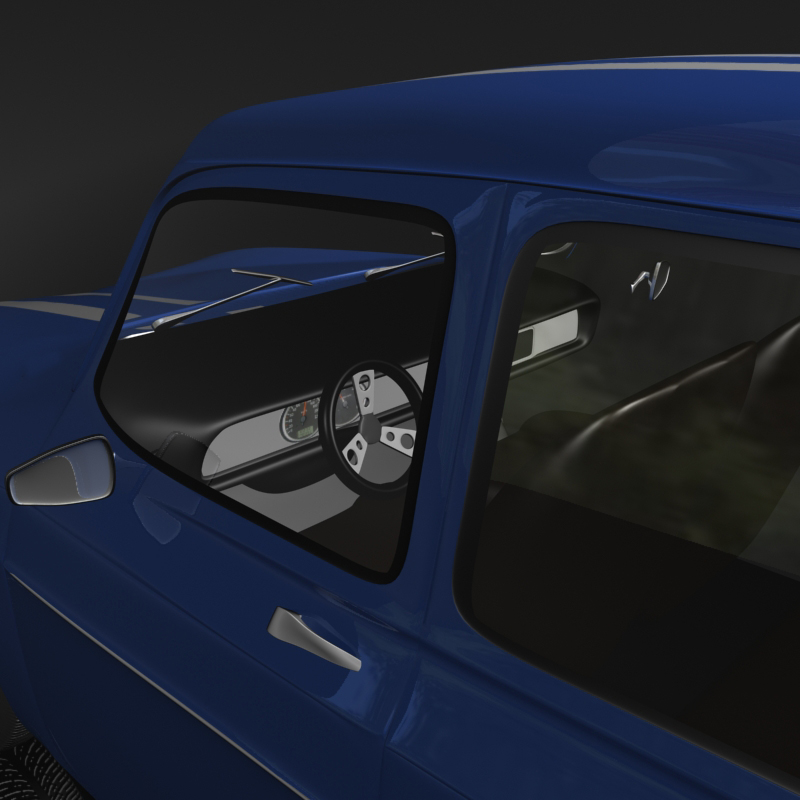 renault 8 gordini 3d model 3ds max fbx obj 118969