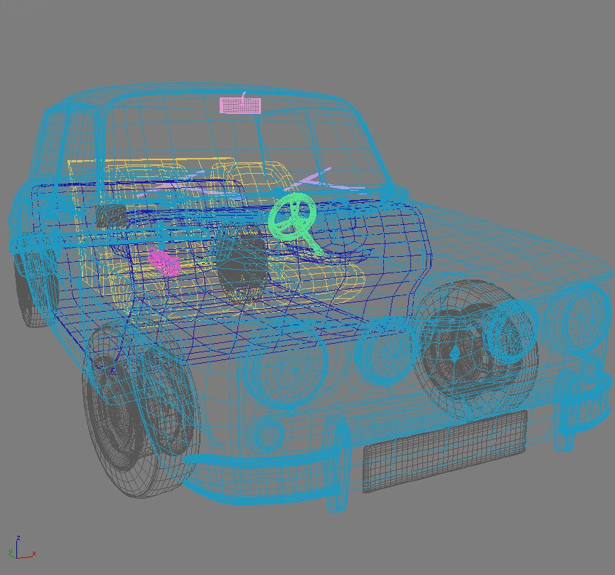 renault 8 gordini 3d model 3ds max fbx obj 118970