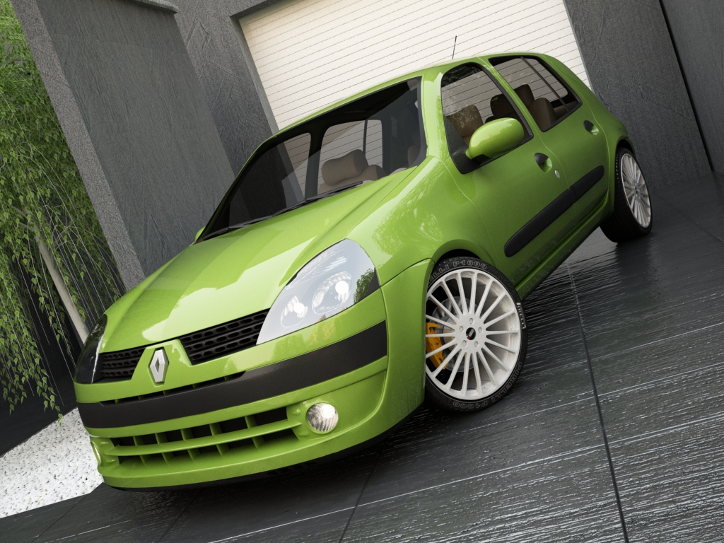 renault clio 2004 3d model 3ds max other texture obj 119694