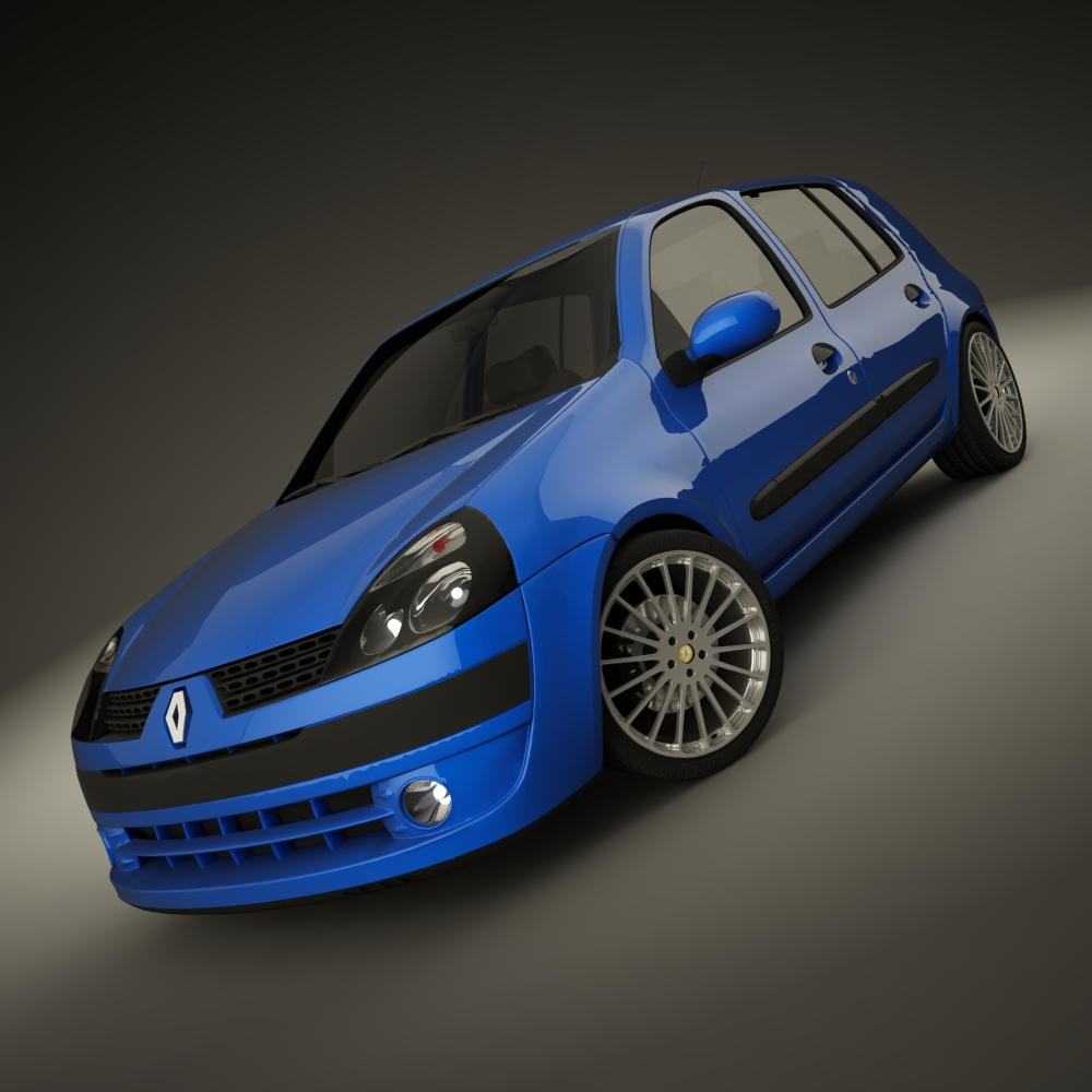 renault clio 2004 sport 3d model max dxf jpeg jpg texture 127934