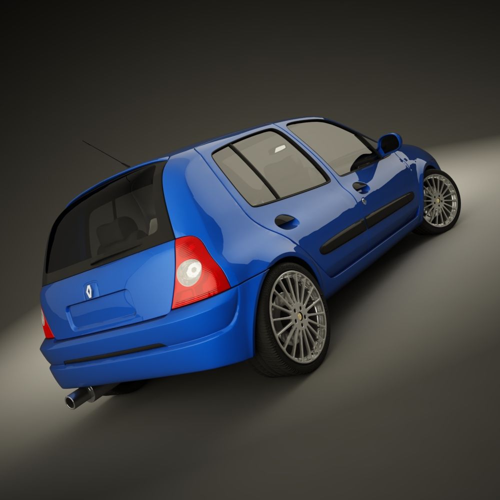 renault clio 2004 sport 3d model max dxf jpeg jpg texture 127935