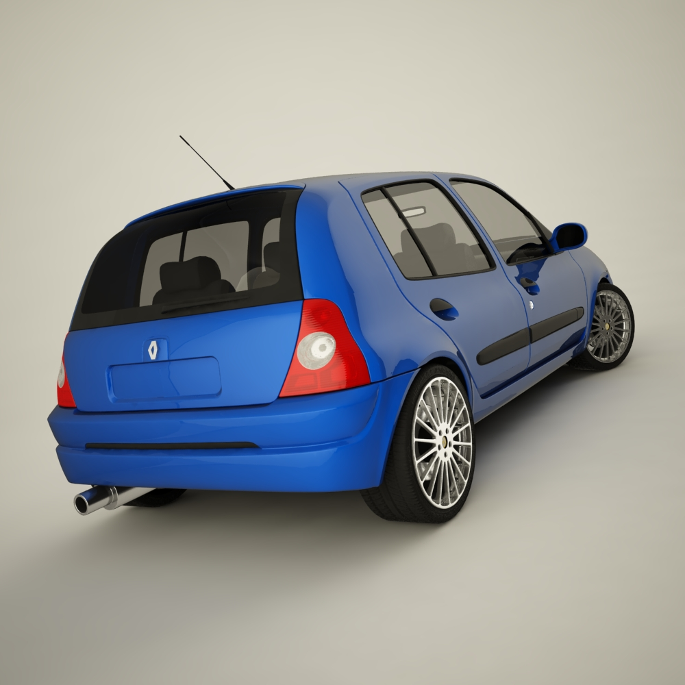 renault clio 2004 sport 3d model max dxf jpeg jpg texture 127937
