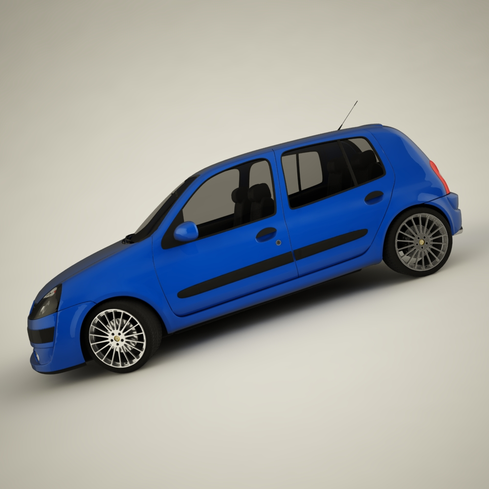 renault clio 2004 sport 3d model max dxf jpeg jpg texture 127938