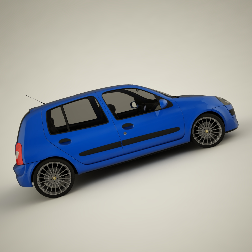 renault clio 2004 sport 3d model max dxf jpeg jpg texture 127939