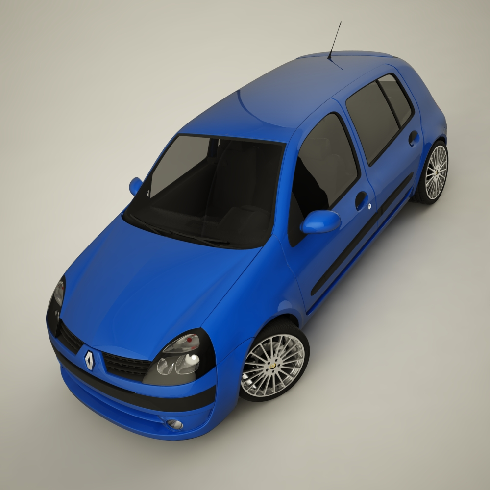 renault clio 2004 sport 3d model max dxf jpeg jpg texture 127942