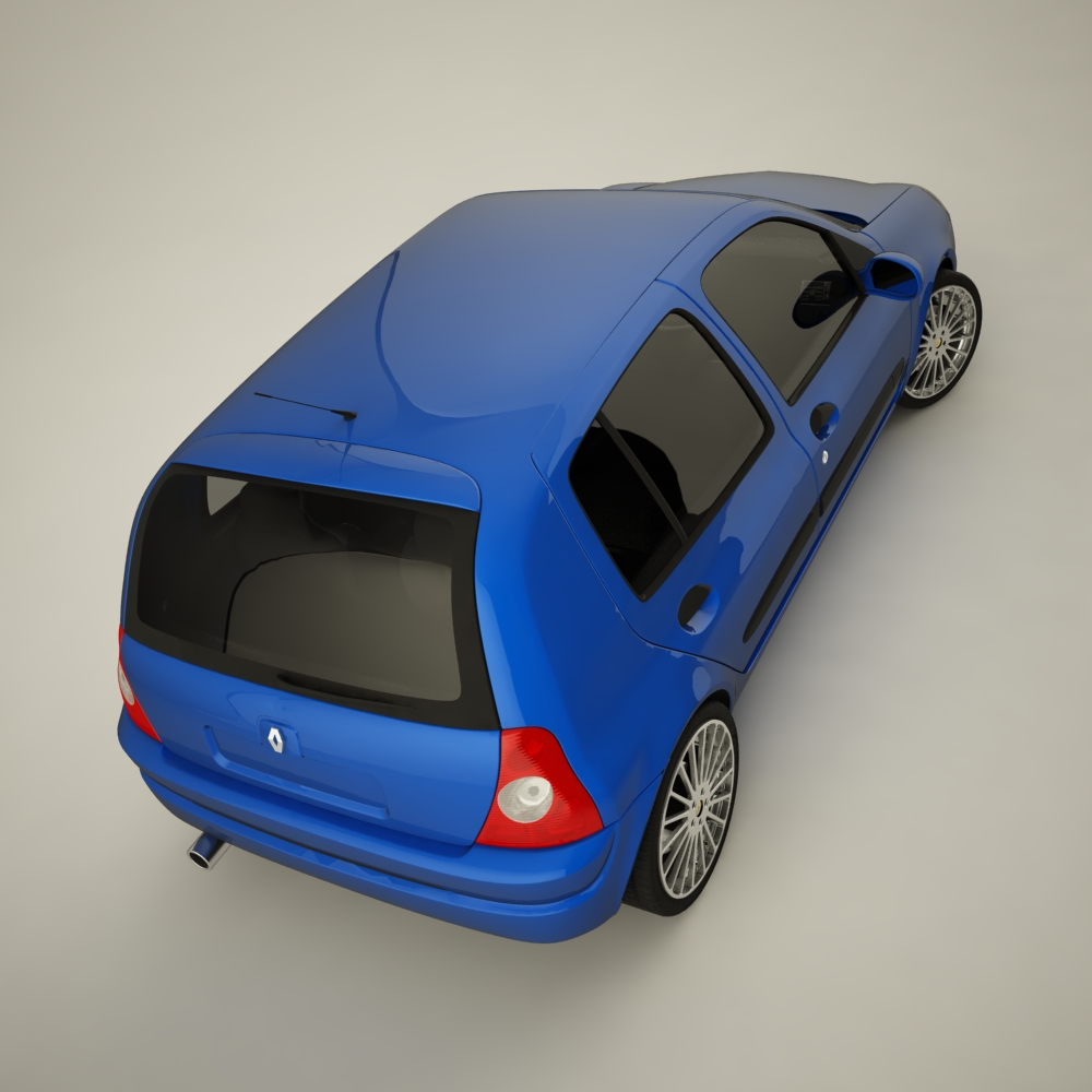 renault clio 2004 sport 3d model max dxf jpeg jpg texture 127943
