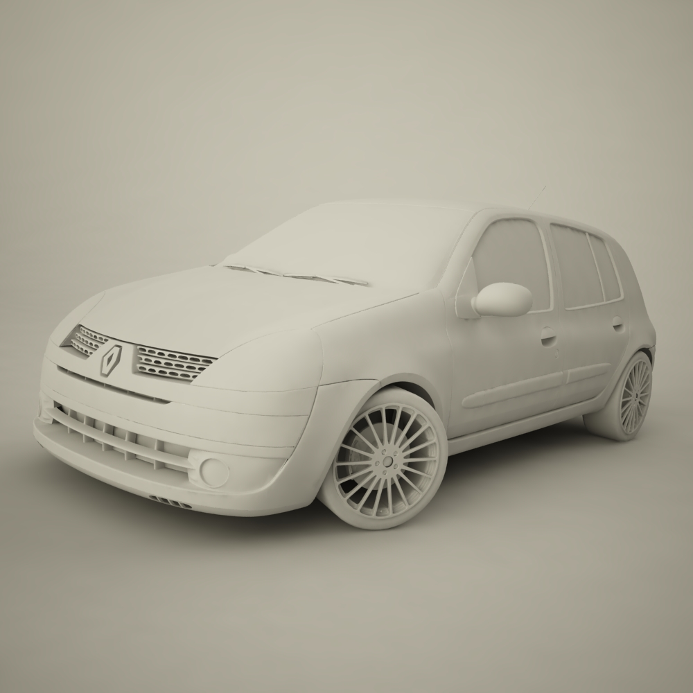 renault clio 2004 sport 3d model max dxf jpeg jpg texture 127944