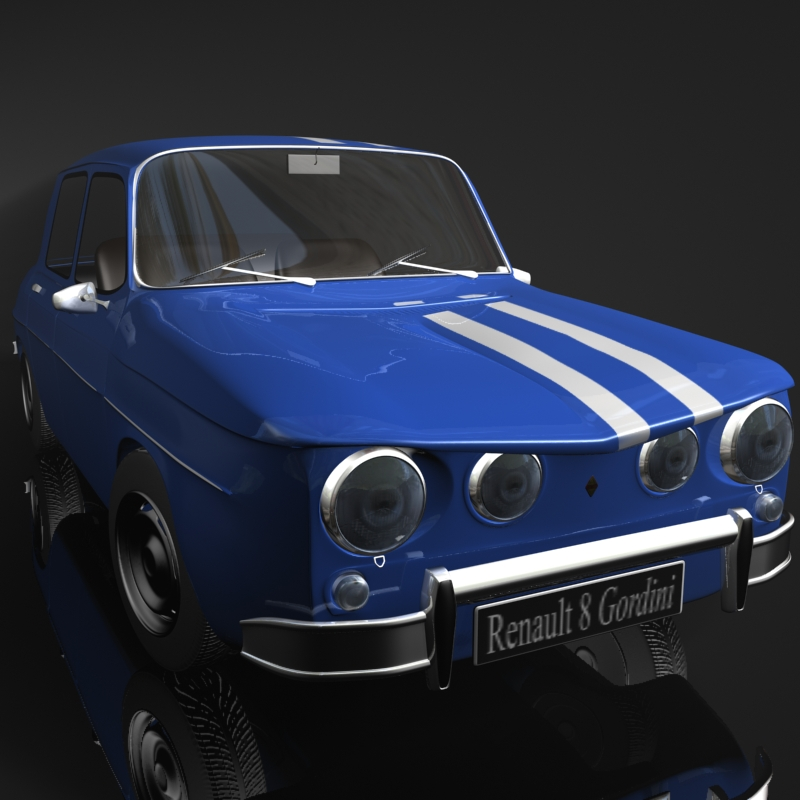 renault 8 gordini 3d model flatpyramid. Black Bedroom Furniture Sets. Home Design Ideas