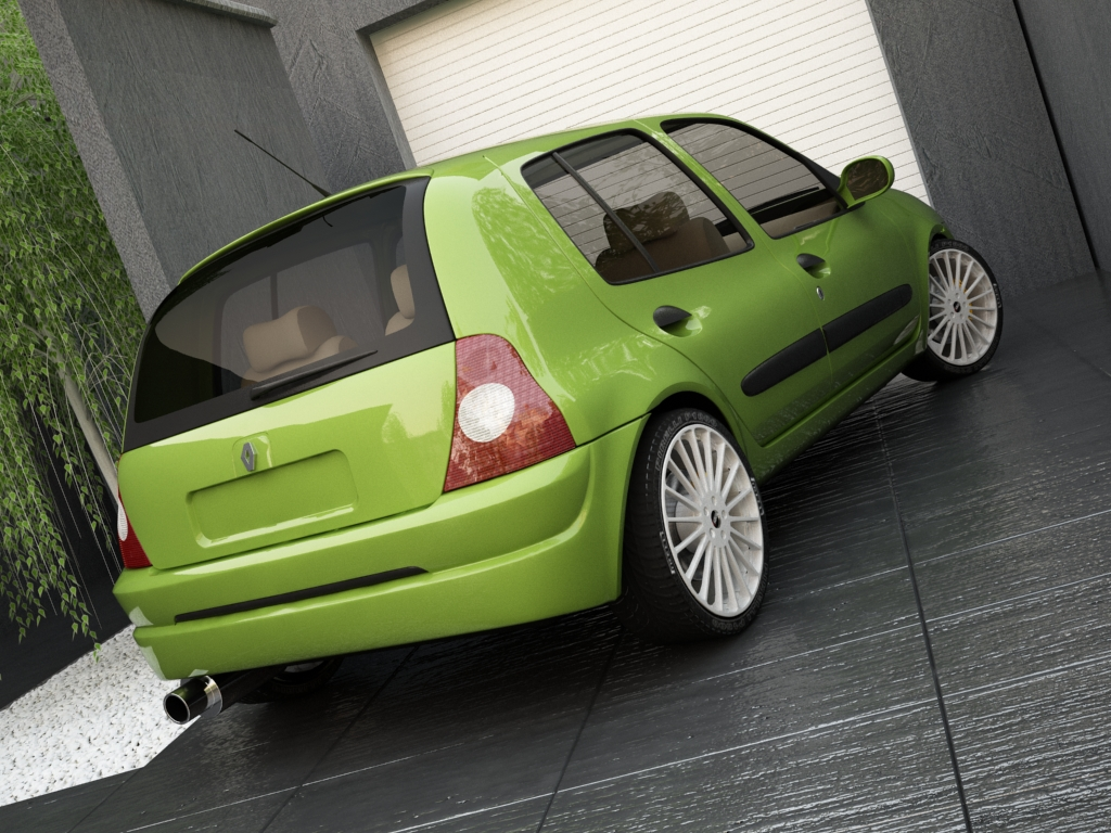 renault clio 2004 3d model buy renault clio 2004 3d model flatpyramid. Black Bedroom Furniture Sets. Home Design Ideas
