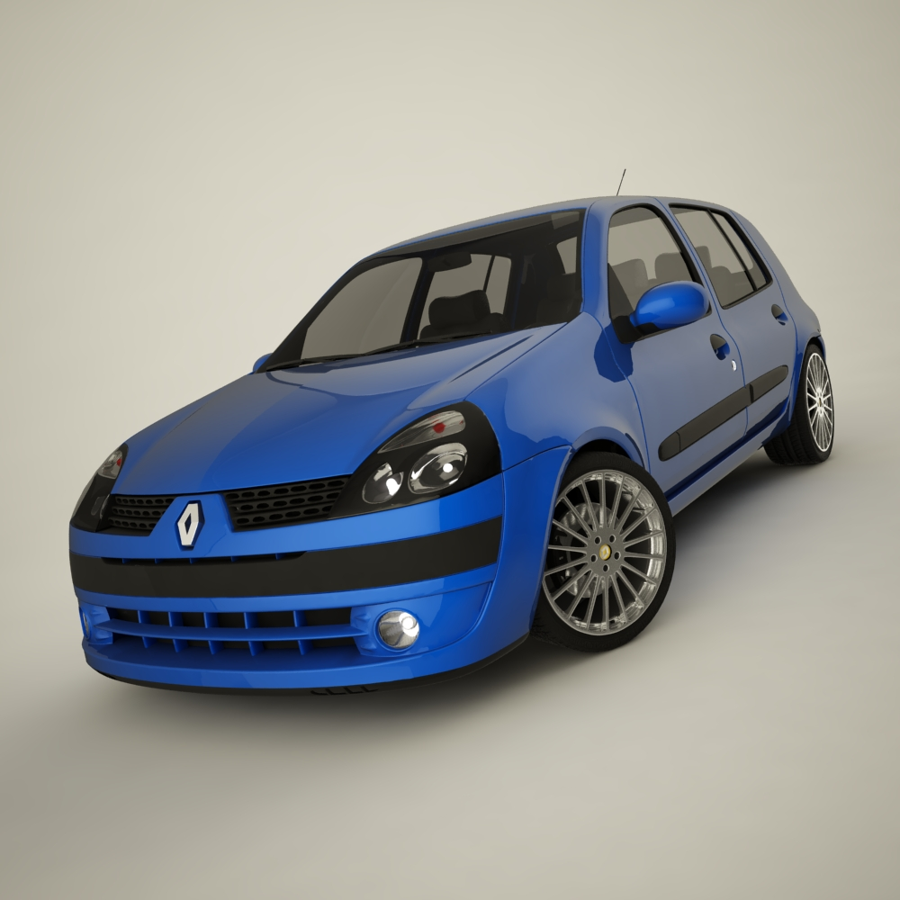 renault clio 2004 sport 3d model flatpyramid. Black Bedroom Furniture Sets. Home Design Ideas