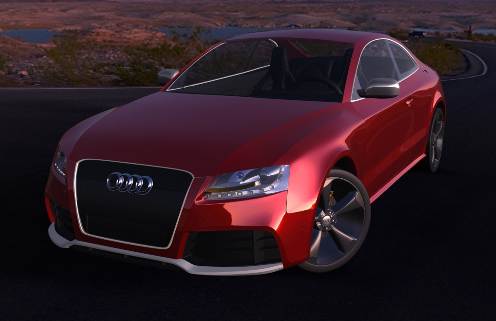 rigged audi rs5 car 3d model max 141147