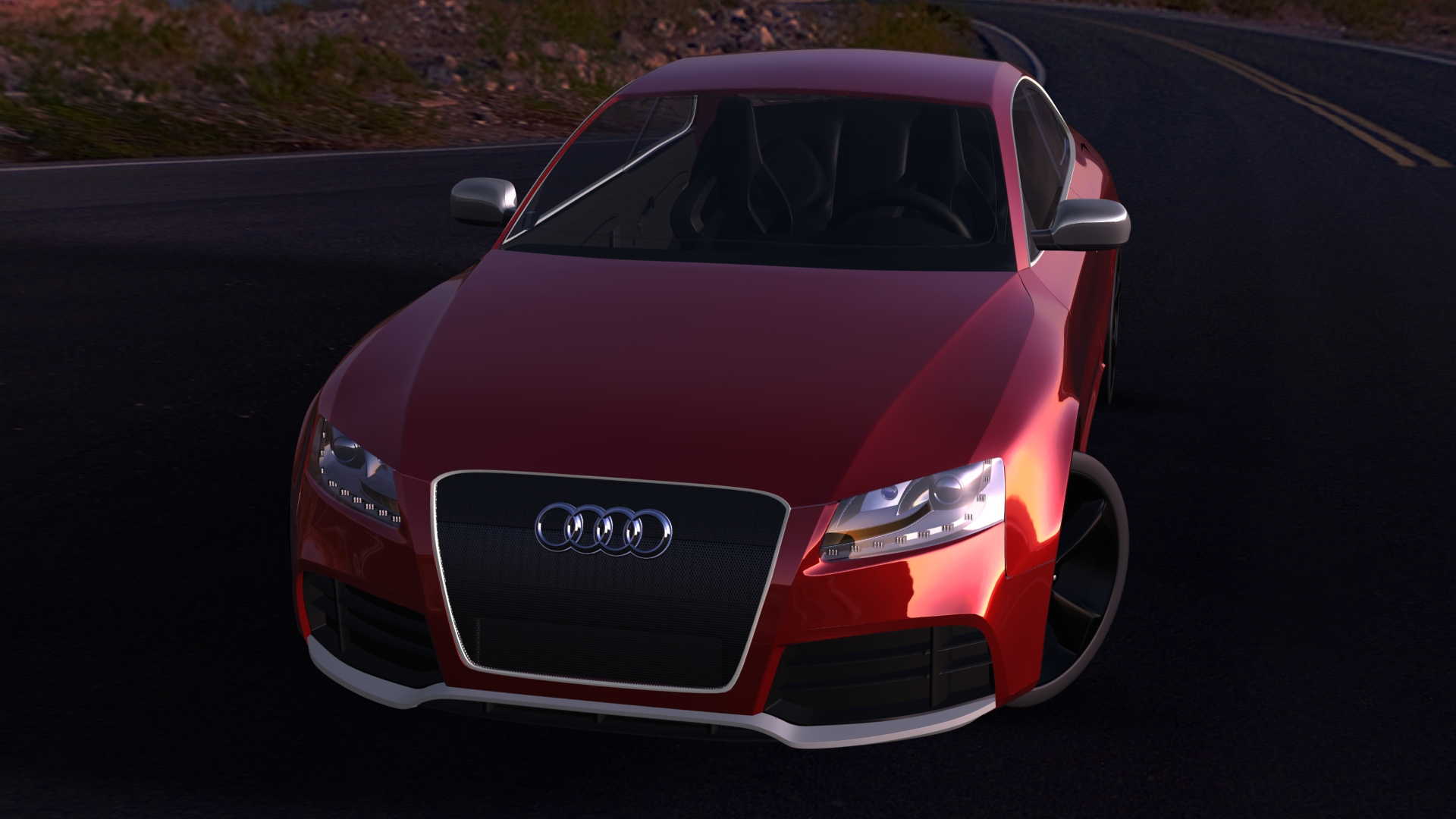 Rigged Audi RS Car D Model Vehicles D Models Accurate Max AR VR - Audi car 3d