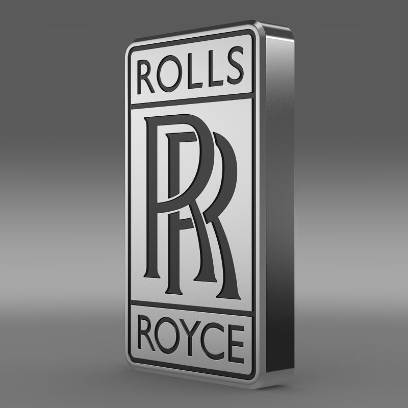 rolls-royce logo 3d model 3ds max fbx c4d lwo ma mb hrc xsi obj 162772